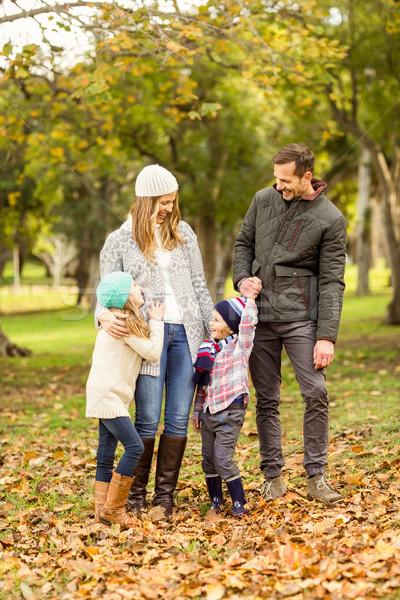 肖像 笑みを浮かべて 小さな 家族の肖像画 家族 女性 ストックフォト © wavebreak_media