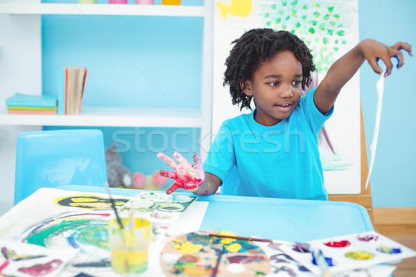 счастливым Kid искусств ремесла Живопись Сток-фото © wavebreak_media