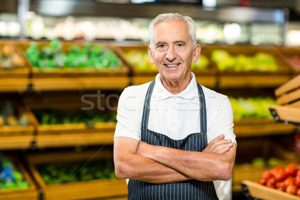 Senior worker with arms crossed Stock photo © wavebreak_media