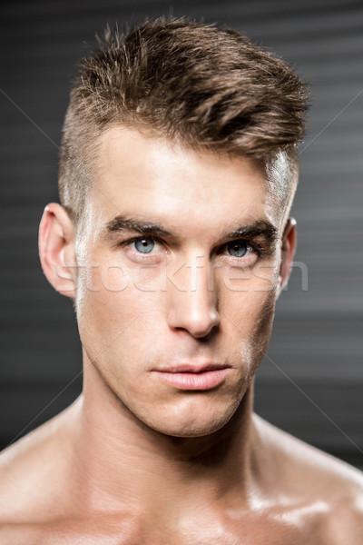 肖像 ハンサムな男 crossfitの ジム 男 フィットネス ストックフォト © wavebreak_media