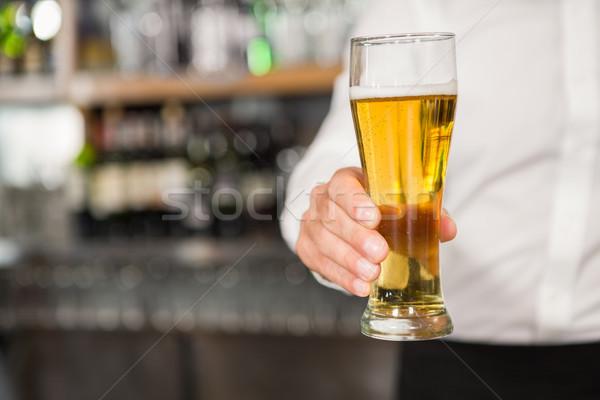 Jóképű bár gyengéd pint vásárló kocsma Stock fotó © wavebreak_media