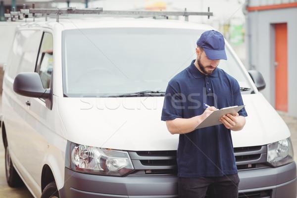 Дать буфер обмена ван пер промышленности Сток-фото © wavebreak_media