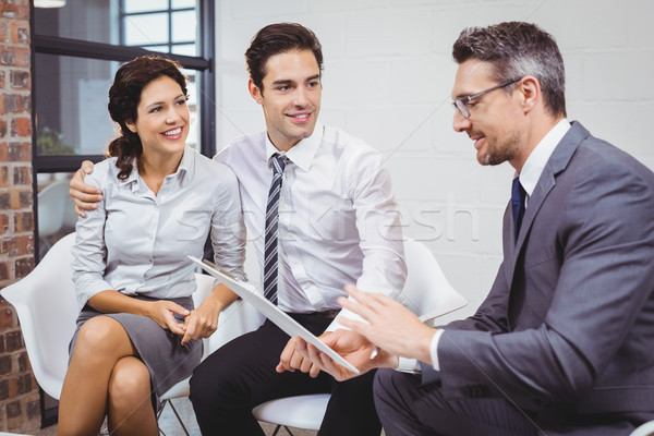 Imprenditore client seduta ufficio business Foto d'archivio © wavebreak_media