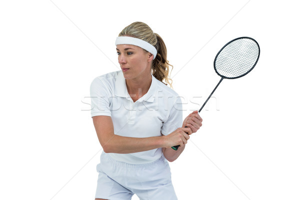 Homme athlète jouer badminton blanche femme Photo stock © wavebreak_media