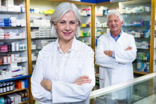 Permanent portrait pharmacie femme heureux Photo stock © wavebreak_media