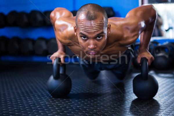 человека портрет определенный фитнес спортзал Сток-фото © wavebreak_media