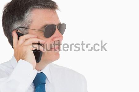 Hombre virtual realidad gafas inteligentes Foto stock © wavebreak_media