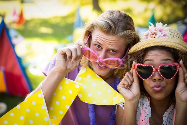 Friends in fancy sunglasses at music festival Stock photo © wavebreak_media