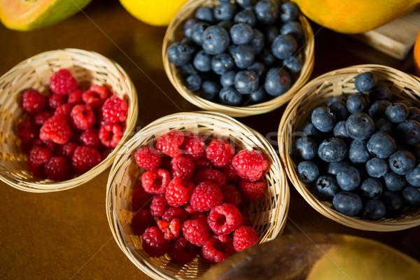 Lampone mirtillo counter salute alimentari shop Foto d'archivio © wavebreak_media