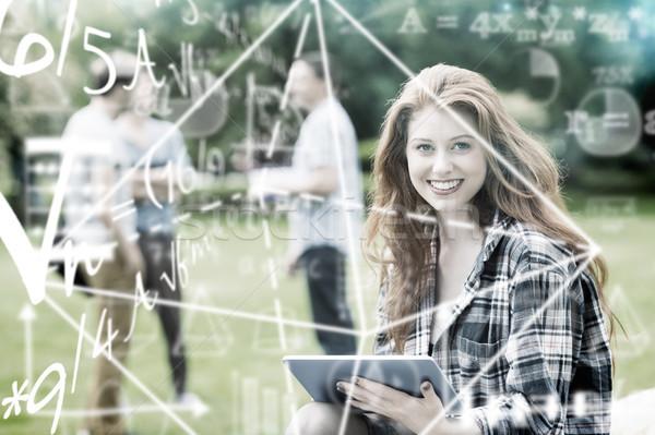 Imagem matemática equação homem estudante Foto stock © wavebreak_media