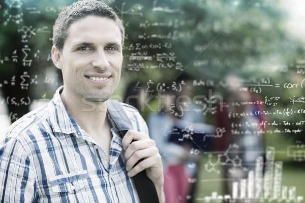 összetett kép matematika férfi boldog diák Stock fotó © wavebreak_media