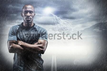 Görüntü sert rugby oyuncu Stok fotoğraf © wavebreak_media