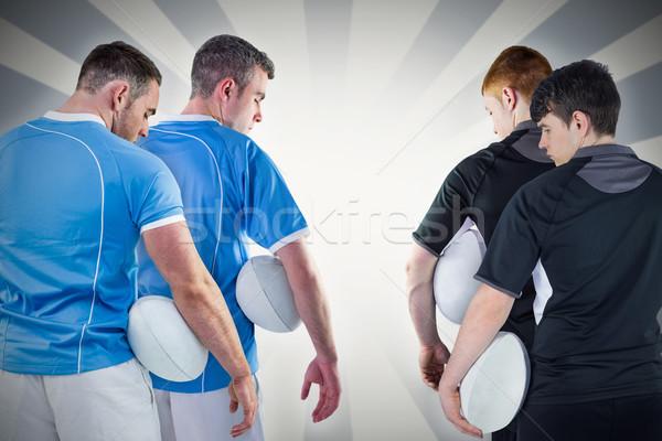 Stok fotoğraf: Görüntü · sert · rugby · oyuncular · doğrusal