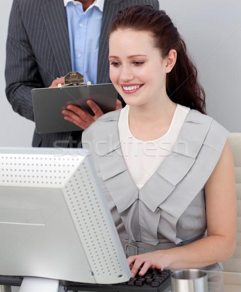 經理 工作 辦公室 計算機 商業照片 © wavebreak_media