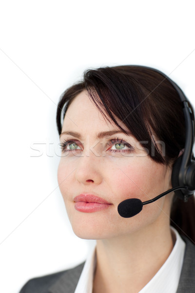 Self-assured businesswoman with headset Stock photo © wavebreak_media