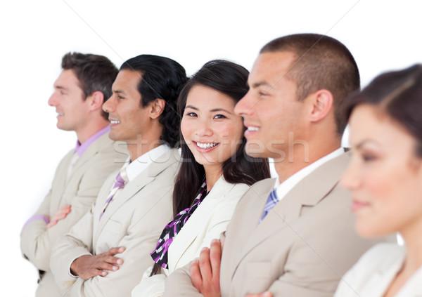 Sorridere business partner uomo felice imprenditore Foto d'archivio © wavebreak_media