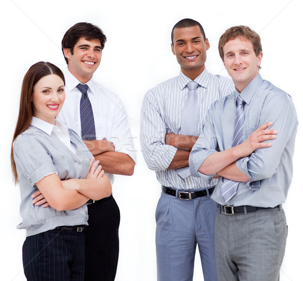 Stock photo: Portrait of confident business people with folded arms