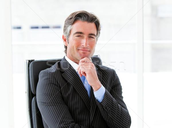честолюбивый мужчины исполнительного сидят служба компания Сток-фото © wavebreak_media