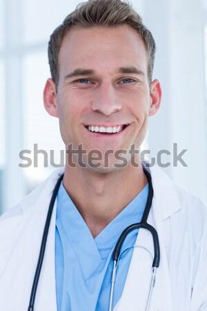 Portrait affaires blanche bureau heureux exécutif Photo stock © wavebreak_media