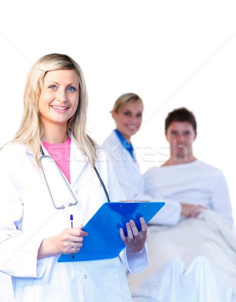 Bella giovani medici paziente sorriso donne Foto d'archivio © wavebreak_media