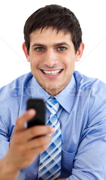 Aantrekkelijk zakenman bericht geïsoleerd witte Stockfoto © wavebreak_media