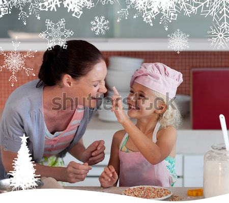 Potrait of mother and daugther having fun together Stock photo © wavebreak_media