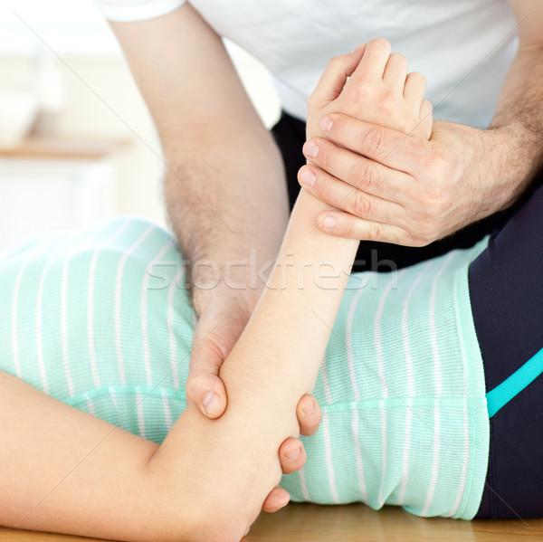 Primer plano mujer masaje salud club hombre Foto stock © wavebreak_media