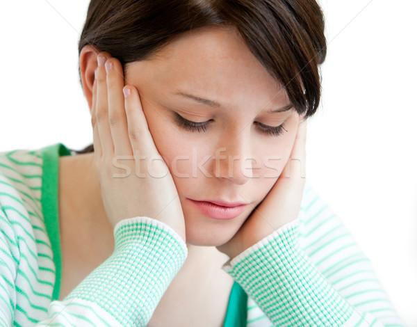 Ritratto depresso adolescente testa mani Foto d'archivio © wavebreak_media