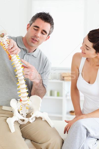 Chiropractor omurga kadın oda ofis Stok fotoğraf © wavebreak_media