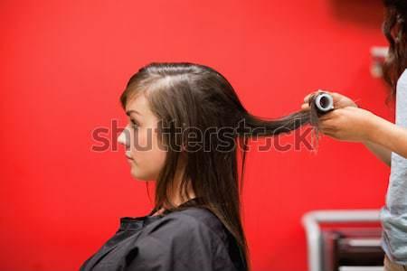 Kapper haren gelukkig mode werk ontwerp Stockfoto © wavebreak_media
