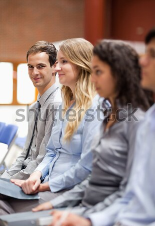 Portrait of a young businesswoman smiling at the camera during a presentation Stock photo © wavebreak_media
