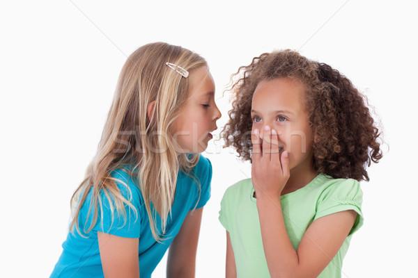 Menina segredo amigo branco cara Foto stock © wavebreak_media