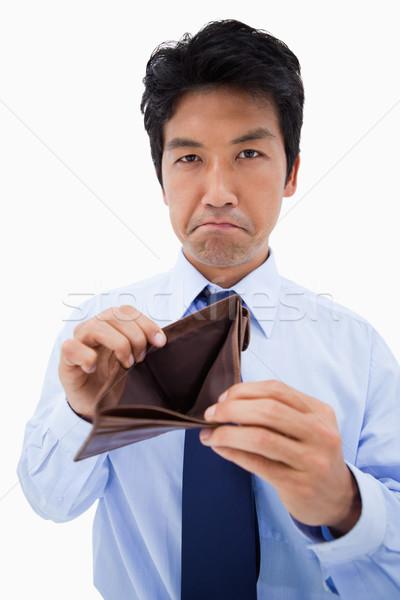 Portré üzletember mutat üres pénztárca fehér Stock fotó © wavebreak_media
