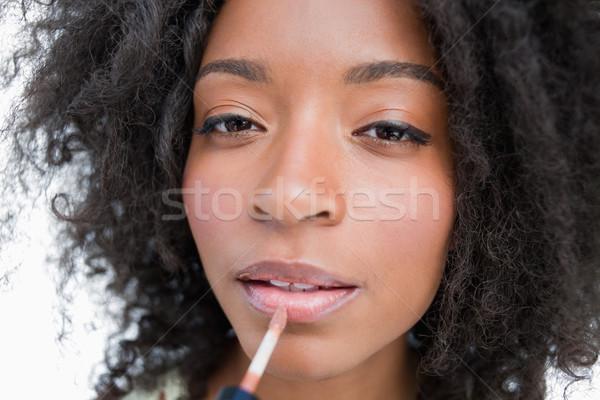 Lip gloss trucco bianco moda sfondo Foto d'archivio © wavebreak_media