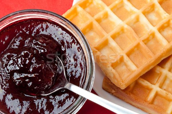 śniadanie jam tabeli truskawki Zdjęcia stock © wavebreak_media