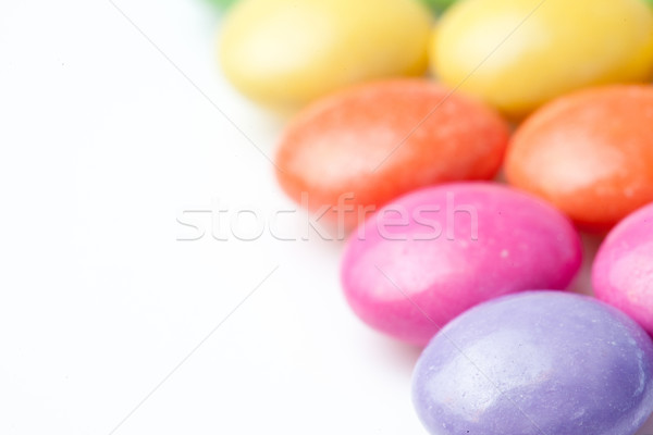 Close-up of chocolate candies against a white background Stock photo © wavebreak_media