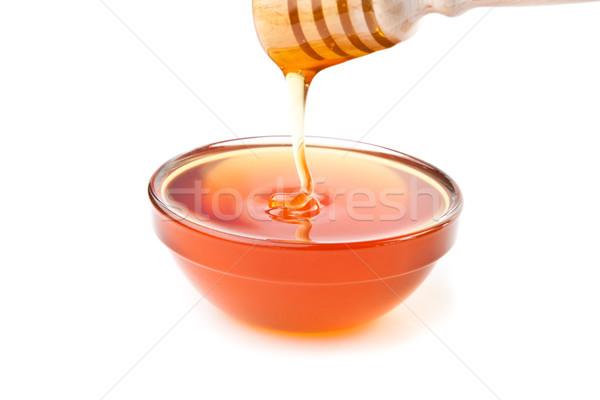 Méz tál fehér étel háttér édes Stock fotó © wavebreak_media