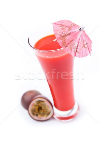 Tutku meyve cam beyaz içmek kırmızı Stok fotoğraf © wavebreak_media