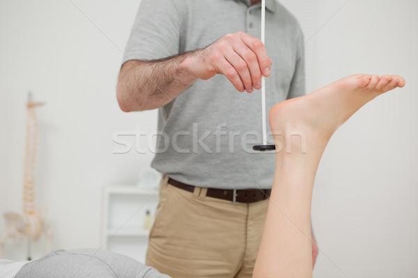 Arts patiënt kamer man medische benen Stockfoto © wavebreak_media