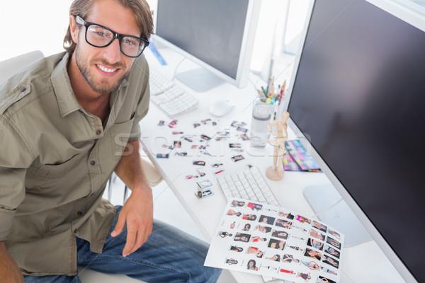 Foto editor secretária retrato escritório teclado Foto stock © wavebreak_media