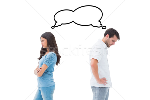 Composite image of upset couple not talking to each other after  Stock photo © wavebreak_media