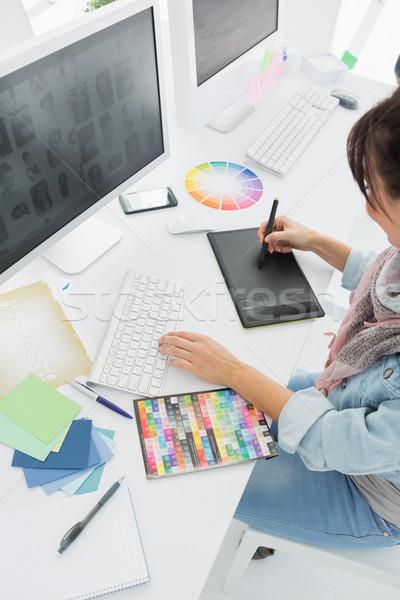 Artista desenho algo gráfico comprimido Foto stock © wavebreak_media