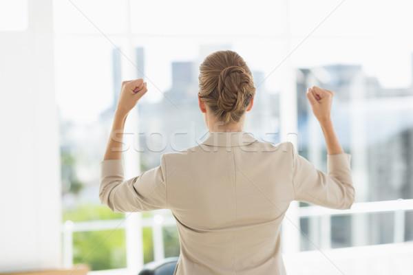 Mujer de negocios oficina alegre jóvenes brillante Foto stock © wavebreak_media