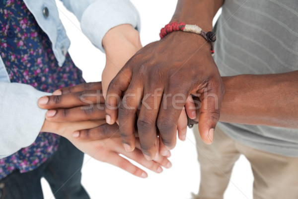 Close-up mid section of a couple with hands together Stock photo © wavebreak_media