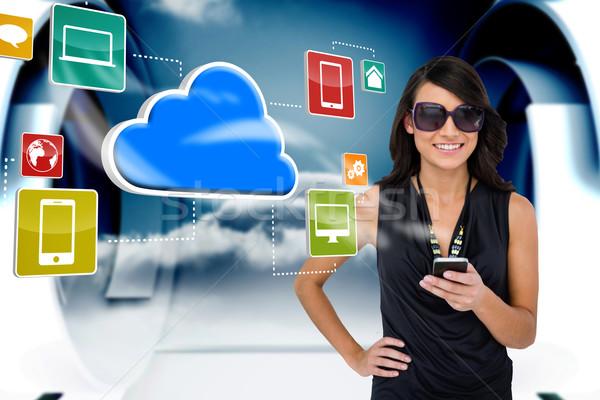 Morena nuvem ícones composição digital Foto stock © wavebreak_media