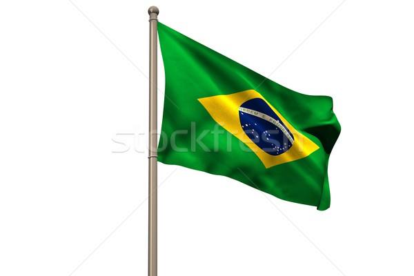 Digitálisan generált Brazília zászló fehér Stock fotó © wavebreak_media