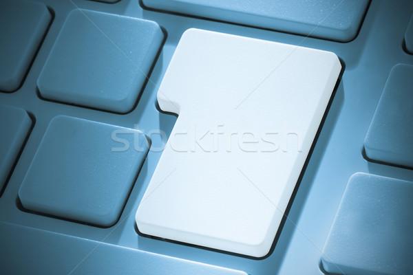 Fehér belépés kulcs billentyűzet kék Stock fotó © wavebreak_media