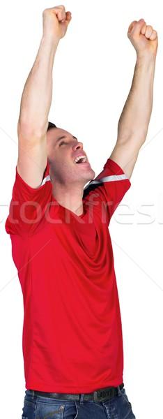 Football fan rouge blanche homme Photo stock © wavebreak_media