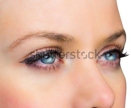 Feminino olhos azuis azul olho branco Foto stock © wavebreak_media