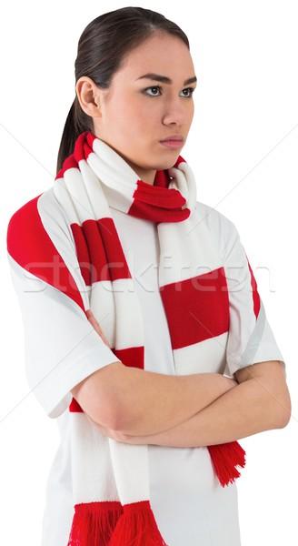 Grave fútbol ventilador blanco rojo energía Foto stock © wavebreak_media